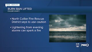 Collier County burn ban lifted