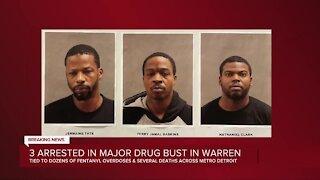3 arrested in major drug in Warren