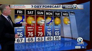 Steve Weagle's 11 p.m. weather forecast.