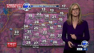 First Alert Action Day: Snow for Denver tonight and tomorrow