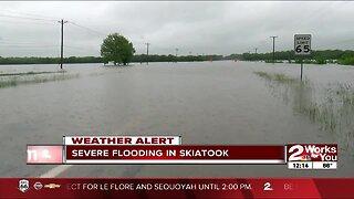 Severe flooding in Skiatook