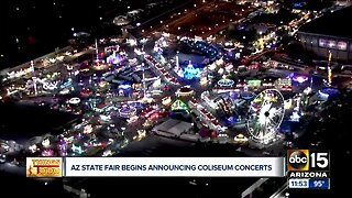 Which artists are coming to this year's Arizona State Fair?