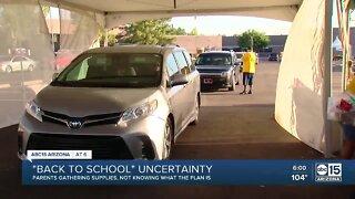 Parent still gathering school supplies despite unclear back to school plans