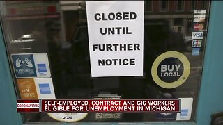 Self-employed, contract and gig workers eligible for unemployment in Michigan