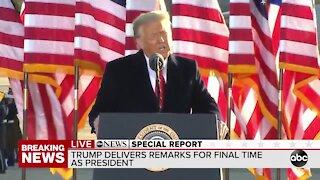 President Trump speaks from Joint Air Base Andrews