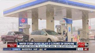 Winter storm causes road closures, delays across Kern County