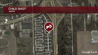 Boy, 8, shot after gun discharges inside Canton home
