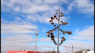 Metal Wind ~ Spinning Art Sculpture