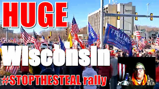 HUGE #STOPTHESTEAL WISCONSIN PROTEST SATURDAY COMMENTS