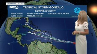 Tropical Storm Gonzalo Update 5PM 7/22/20