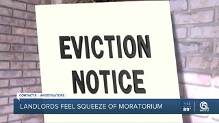 Landlords feel squeeze of eviction moratorium