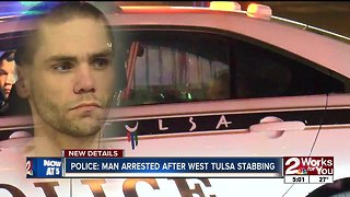 Police: Man arrested after west Tulsa stabbing