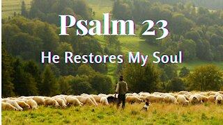 Psalm 23 He Restoreth My Soul ❤ Music with the Psalms, Christian Meditation, Soaking Worship Music