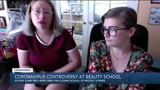 Coronavirus controversy at beauty school