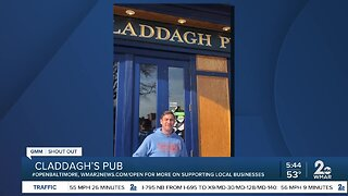 """Claddagh's Pub says """"We're Open Baltimore!"""""""