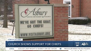 Church shows support for Chiefs