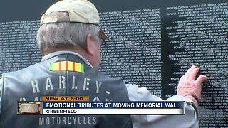 Replica Vietnam Wall moves veterans, family members