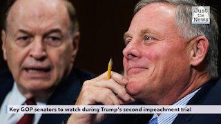 Key GOP senators to watch during Trump's second impeachment trial
