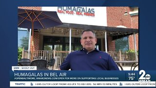"""Humagalas says """"We're Open Baltimore!"""""""