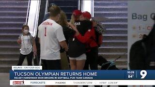 Local Olympian returns home