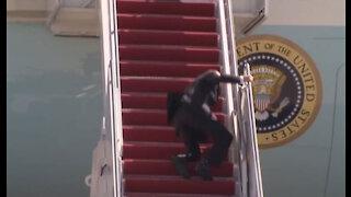 Joe Biden falls entering Air force one!
