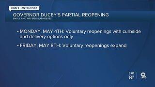 Gov. Ducey outlines restaurant, barbershop, salon reopening guidelines