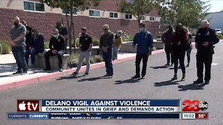 The Delano community holds a vigil for victims of violent crimes
