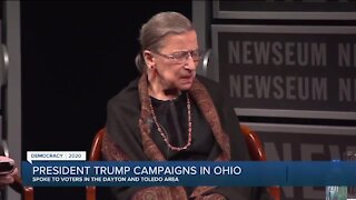 Trump rallies supporters at campaign stops in Dayton and Toledo