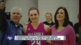 Farmington Hills firefighter keeps family history of public service alive