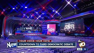 Countdown to 3rd Democratic presidential debate