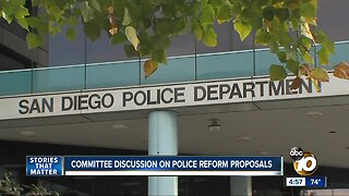 Committee discussion on police reform proposals