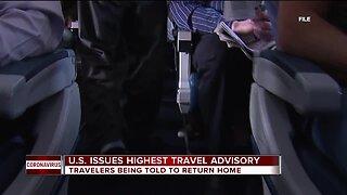 U.S. issues highest travel advisory