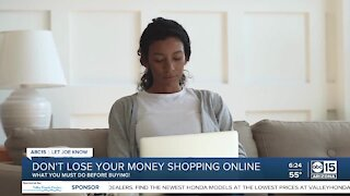 Don't lose your money shopping online