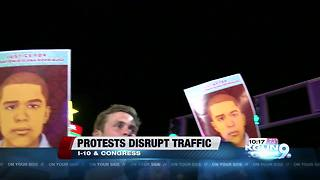 Protests disrupt downtown traffic, intersection closed