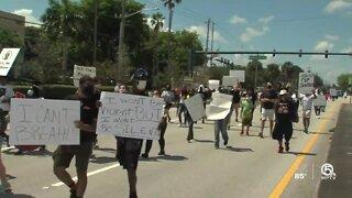 Protesters gather in Boynton Beach over George Floyd's death