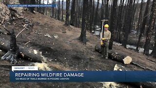 Repairing wildfire damage in Poudre Canyon