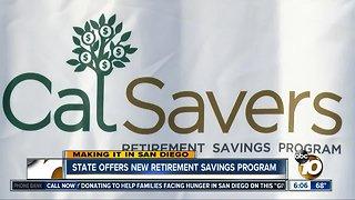 California offers state-run retirement savings program