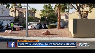 Police arrest suspect who allegedly injured Henderson officers