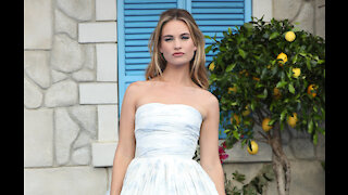 Lily James 'is having a blast as Pamela Anderson'