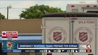 Emergency response teams prepare for Dorian