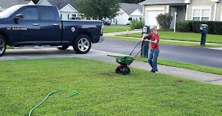 8-Year-Old Collects Food For People In Need By Mowing Lawns
