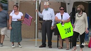 WWII veteran celebrates centennial birthday with parade