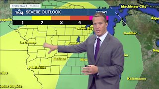 Warm and humid with a chance for thunderstorms Thursday