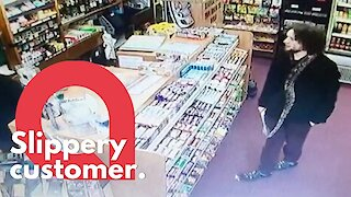 """Shop manager left """"flabbergasted"""" when customer came in with huge live SNAKE around his neck"""