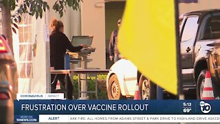 Frustration over San Diego County's vaccine rollout