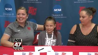Olivet College recruits 9-year-old with chronic disease