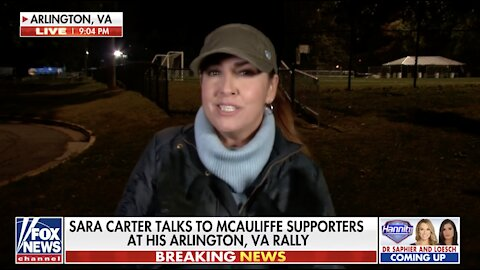 Sara Carter presses McAuliffe supporters on candidate's education policies