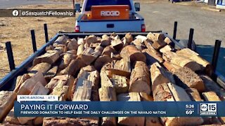 Man donates, delivers firewood to Navajo Nation residents