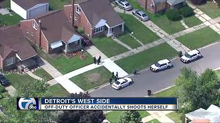 Off-duty Detroit police officer accidentally shoots herself on city's west side