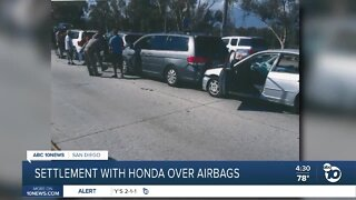 Settlement with Honda over airbags